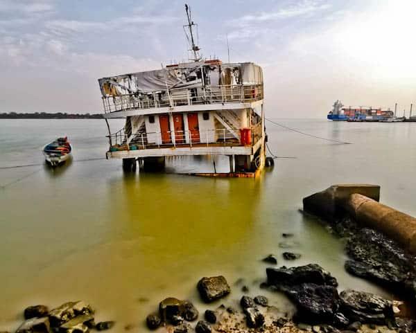 Abandoned Boat in Bissau Port