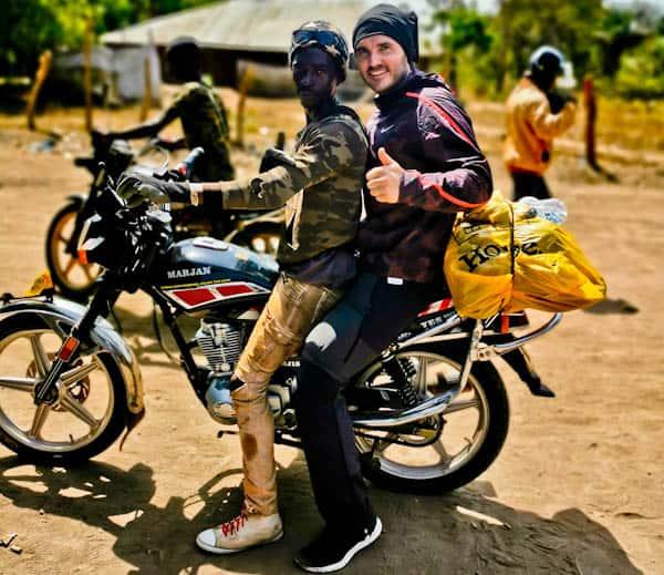 Motorbike from Gandembel, Guinea Bissau to Boke, Conakry