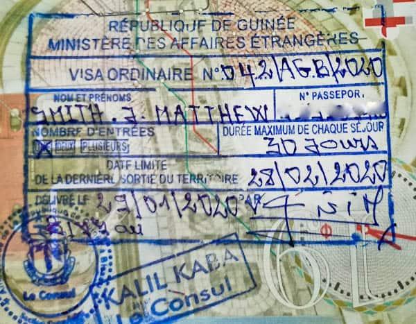 Guinea Conakry Visa in Bissau