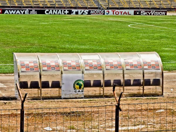Pitch side at Conakry National Stadium