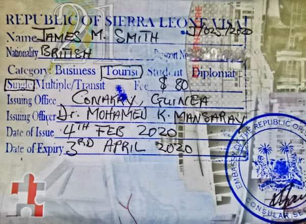 Sierra Leone Visa in Conakry