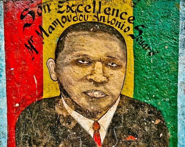 Alpha Conde street art in Conakry Guinea