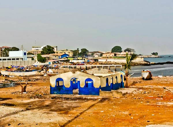 Trash on Conakry Beaches