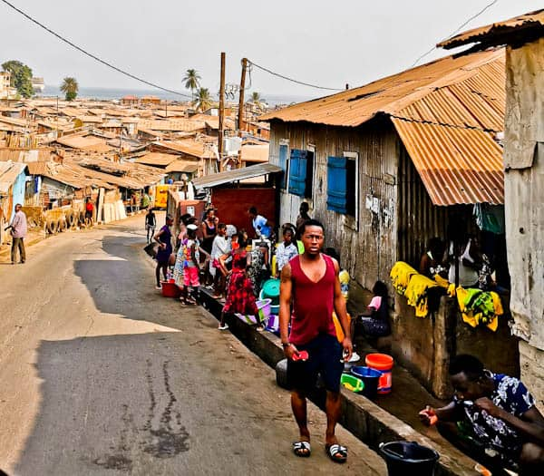 Slums and Shanty Towns of Freetown Sierra Leone