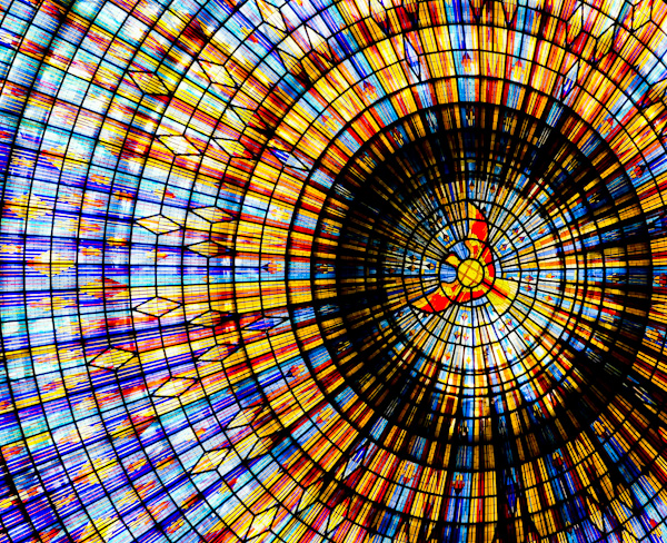 Domed Roof Stained Glass Windows