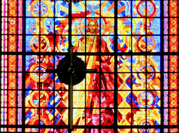 Basilica of Yamoussoukro stained glass windows