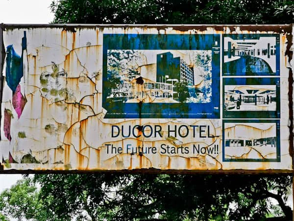 Ducor Hotel Entrance - How to Enter