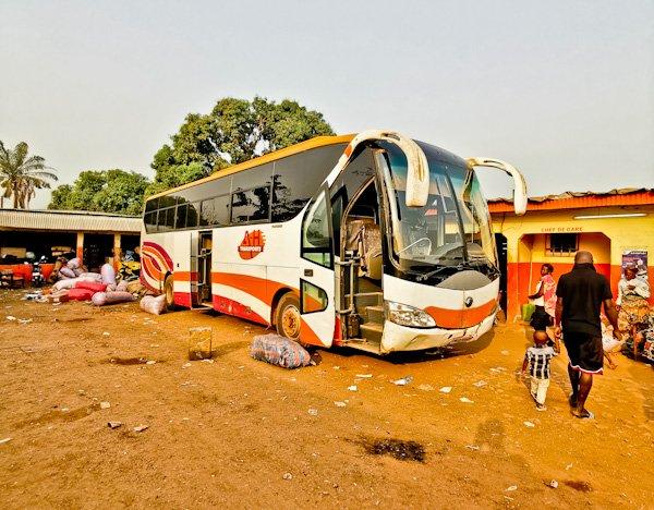 Gare UTB in Man, Ivory Coast