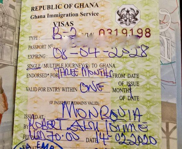 Ghana Visa in Monrovia Liberia