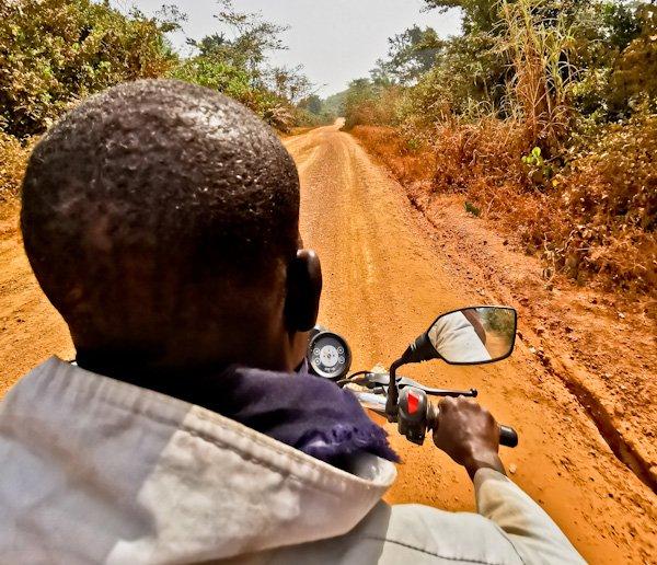 Private motorbike taxi from Ganta to Liberia / Ivory Coast Border