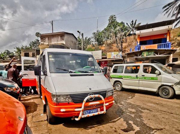 Grand Bassam to Aboisso - shared minivan