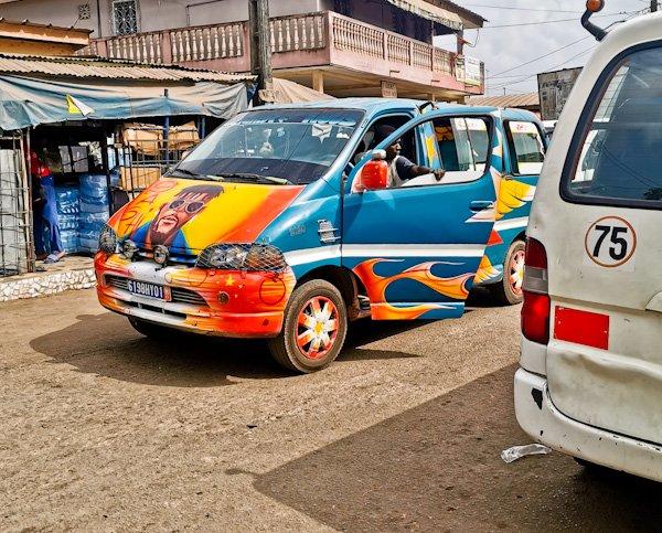 shared minivan in Ivory Coast