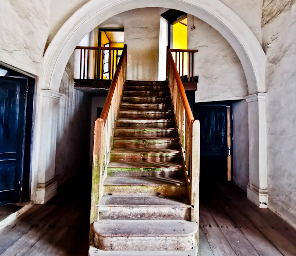 Staircase to the Governors Quarters