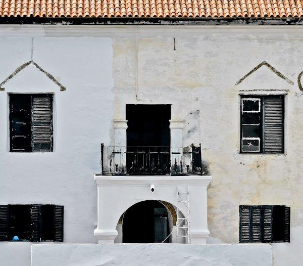 Governors Quarters in Elmina Castle, Ghana