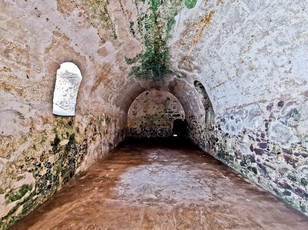 male slave dungeon interior