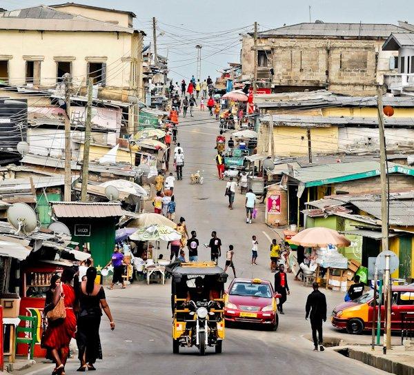 Streets of Cape Coast Ghana