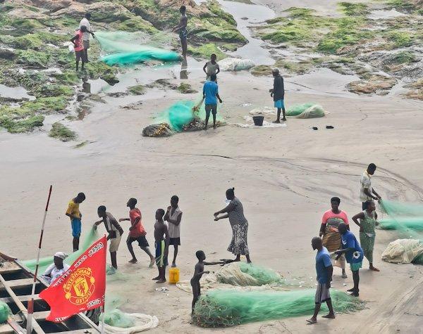 Fishermen in Cape Coast Ghana