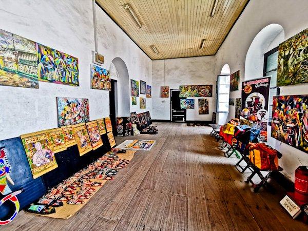 Art Shops in Elmina Slave Castle, Ghana