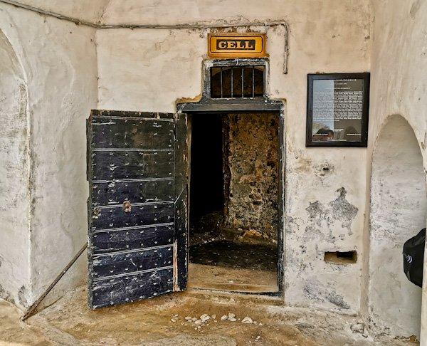 Slave Prison Cell in Cape Coast Castle Ghana