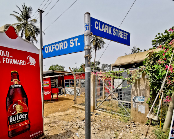 Colonial Street Names in Accra Ghana