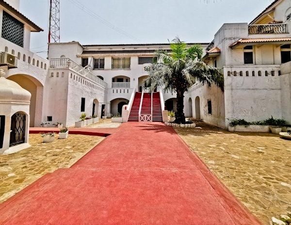 Osu Castle Courtyard and Entrance