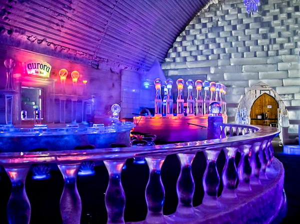 Aurora Bar at Chena Hot Springs and Ice Museum
