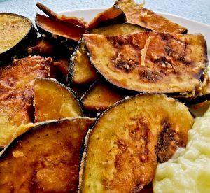 Meze in Skopelos Island - Fried Aubergine