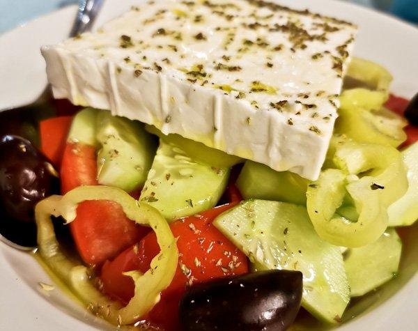Greek Salad - Ammos Restaurant - Skopelos Island Greece