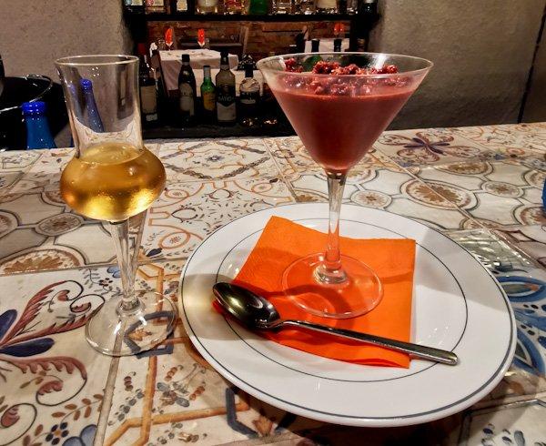 Dessert at To Rodi Restaurant Skopelos