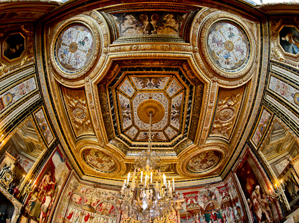 The Pope's Apartment Ceiling - Chateau de Fountainebleau
