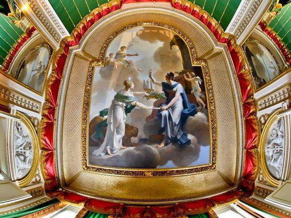 Napoleon's Apartment Ceiling - Chateau de Fountainebleau