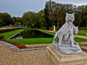 Marble Sculptures in the Vaux Le Vicomte Formal Gardens