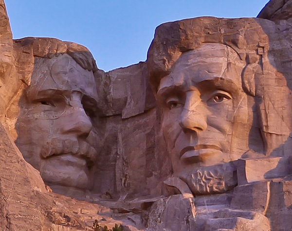 Theodore Roosevelt and Abraham Lincoln, Mount Rushmore