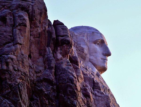 Visit Mount Rushmore - George Washington Face Profile