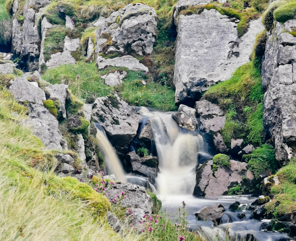 Waterfalls on Great Dun Fell Pennine Way