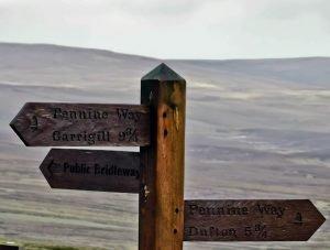 Pennine Way Sign on Great Dun Fell