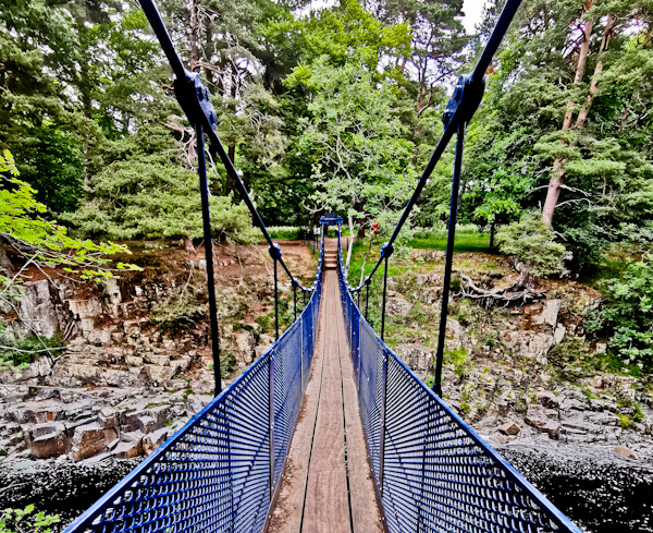 Bridge at Low Force Waterfall - Pennine Way