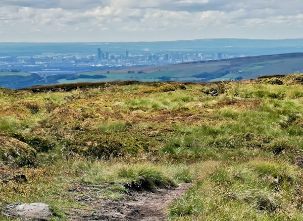Panoramic Manchester Views from the Pennine Way
