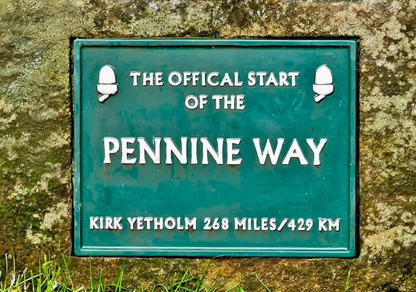 Official Start of the Pennine Way - Marker