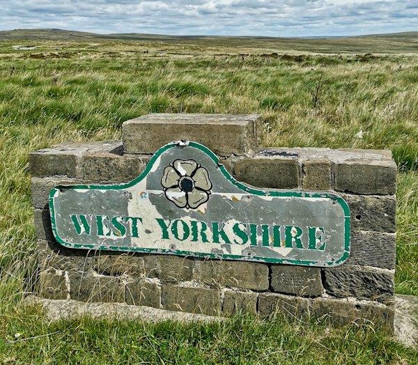 West Yorkshire Boundary Marker - Pennine Way