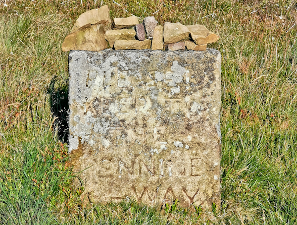 Classic Pennine Way Sign on Pinhaw Beacon