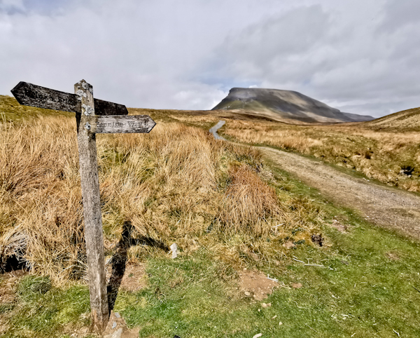 Pen-y-ghent on the Pennine Way
