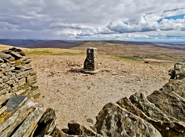 Pen-y-ghent Summit on the Pennine Way Stage 6
