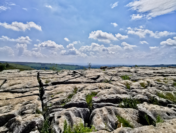 Natural Limestone Formation at Malham Cove